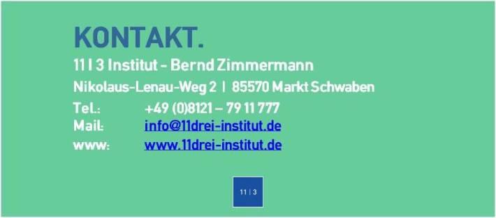 Kontakt 11 I 3 Institut