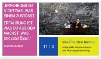 11 I 3 Institut - Spruch des Tages - Erfahrung in Leadership 4.0